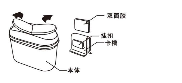 有毒有害垃圾 投入红色垃圾桶_乐乐简笔画